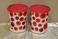"Tupperware UNIQUE and Beautiful New Set of 2 Canisters ""A""  5 cups each"