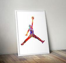 Michael Jordan inspired print, poster, chicago bulls, Basketball, wall art, gift