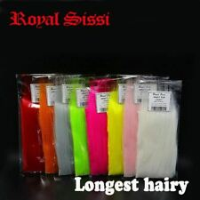 8 pack/set longest haired artificial craft fur fluffy long synthetics fibers fly