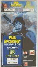 "Paul McCartney ""New World Tour"" Paris Bercy RARE complete Ticket 13 oct 1993"