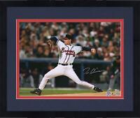 "Framed Tom Glavine Atlanta Braves Autographed 16"" x 20"" Hitting Photograph"