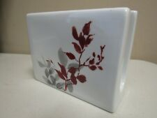 Corelle Kyoto Leaves Napkin Holder Red Gray Porcelain Pre-owned