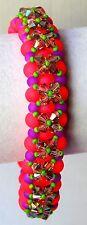 Swavorski Crystal & Neon Bracelet Handmade in the USA by Slave Violet Jewerly