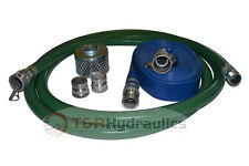3 Green Fcam X Mp Water Suction Hose Trash Pump Complete Kit With50 Blue Dis