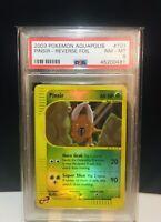 2003 PINSIR Pokemon Aquapolis Reverse Foil - PSA 8 NM-MT