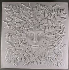 """Lady of the Woods CREATIVE PARADISE Glass Kiln Fusing Mold Tile 7x7"""" Small"""