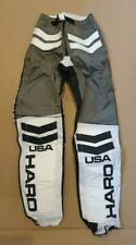 NOS HARO 1983 BMX RACE PANTS LEATHERS GREY WHITE BLACK 32 INCH WAIST
