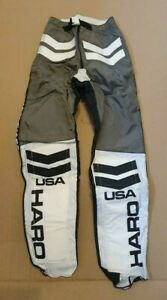 NOS HARO 1983 BMX RACE PANTS LEATHERS GREY WHITE BLACK 30 INCH WAIST