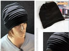 Casual Cap Plicate Baggy Beanie Leisure Black Lovely Unisex Oversize Hats