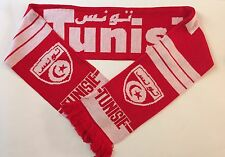 Tunisia Football Scarves New from Soft Luxury Acrylic Yarns