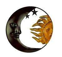 Metal Art Celestial Sun and Moon Indoor Outdoor Wall Decor