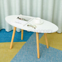 Wood Round Coffee Table Living Room Bedside Sofa sides Nordic Marble Desk White
