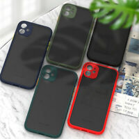 Half Clear Matte Camera Lens Protective Case Cover For iPhone 11 Pro Xs 7 8 Plus