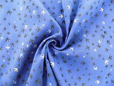 Stoff -Swallow- Meterware Fb. natur/blau  || für Babytragetücher