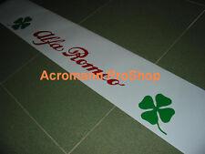 "53"" Alfa Romeo clover leaf windshield sun strip visor banner decal sticker verde"