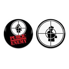 2x Public Enemy Group Band Hip Hop Rap 25mm / 1 Inch D Pin Button Badges