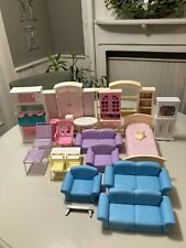Huge Lot Barbie Living In Style & Other Furniture