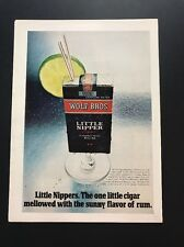 Little Nippers Rum Flavored Cigars | 1971 Vintage Ad | Lime Straw Cocktail