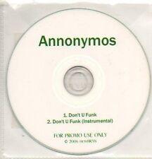 (318K) Annonymous, Don't U Funk - DJ CD
