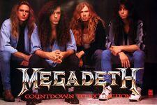 Megadeth 1992 Countdown Rare Original Promo Poster