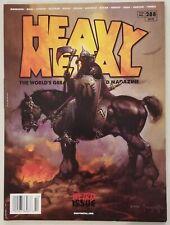 Heavy Metal #288 - 1st Peach Momoko Interior Art - Frazetta Cover - Unread