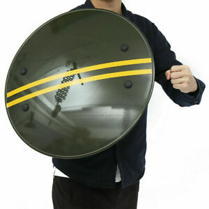 """20.8"""" Anti-Riot Handheld PC Round Shield For Police CS Campus Security Equipment"""