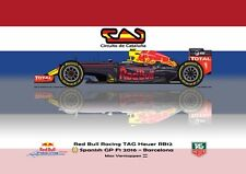 Print on Canvas Red Bull Racing RB12 2016 #33 Max Verstappen Catalunya 160 x 120
