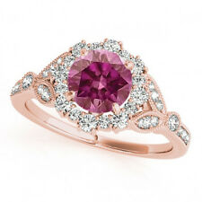 1 Carat Pink Diamond Fancy  Solitaire Promise Ring 14k RG Valentineday Spl.Sale