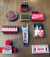 Coca-Cola Collectibles Gift Set/Lot of 15 Different Items In Retro Coke Tin.