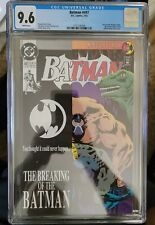 Batman #497 CGC 9.6 Bane Breaks Batman's Back. KNIGHTFALL NM Pages Key