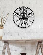 Giraffe Wall Clock, Animal Decorative Wall Clock, Round Wall Clock White