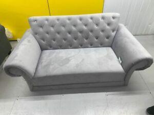 Chelsea 2 Seater Velvet Sofa - Grey