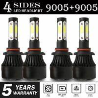 4-sides Combo 9005 LED Headlight Bulbs for Toyota RAV4 2013-2015 High Low Beam