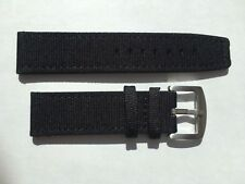 22mm Black Nylon / Leather Watch Band Strap for iwc T.G miramar & 22mm buckle