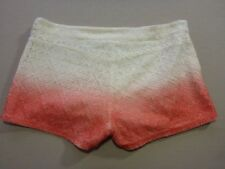 106 WOMENS NWOT ROXY HOT PANTS PINK / CREAM EMBOIDERED SHORTS SML $70 RRP.