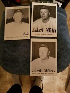 VINTAGE 1950s/60s JAY PUBLISHING RALPH HOUK YANKEES LOT (3) NM      GROBEE1957