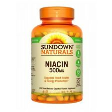 Niacin 12 X 200 Caplets 500 mg by Sundown Naturals
