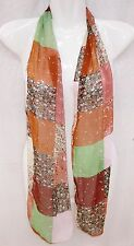 Women Lady Girl Summer Silk Patchwork Pattern Scarf