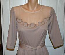 Vintage Autumn 1940's Style Ladies Beaded Dress