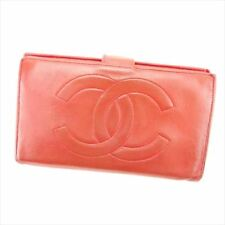 Chanel Wallet Purse Coin purse COCO Red Woman unisex Authentic Used T6329