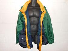 Vintage Colorblock Sailing Boat Green Blue Yellow Windbreaker Jacket XL