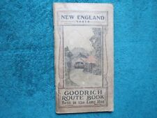 1916 GOODRICH Car ROUTE BOOK New England North by B F Goodrich Co.  Advertising