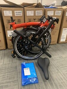 Brompton S6L Black Edition Rocket Red RARE EDITION SHIPPING 🌎! TRUSTED SELLER!