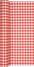 Tischläufer Karo rot weiß kariert Tischband Landhaus Oktoberfest Rolle 490x 40cm