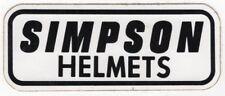 "Original Advertising Sticker: ""SIMPSON HELMETS"""
