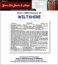 Kelly's Wiltshire 1898 Directory CDROM