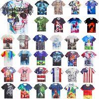 Clearance sale Women/Men 3D animal T-Shirts Short/Long Sleeve Tops Tee shirt
