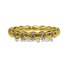 NEW Pandora 14k Gold Diamond Bubble Bubbles Ring RRP$925 Sz 54 150144D Genuine