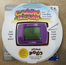 New Hasbro Pocket Pogo, Casino Island, Touch Screen, 4 Casino Games 2009