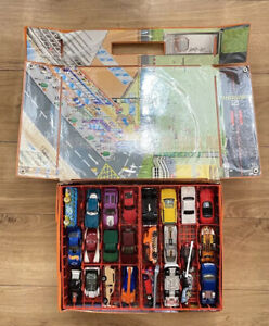 Vintage Carry Case And 48 Hot Wheels Diecast Cars See Images